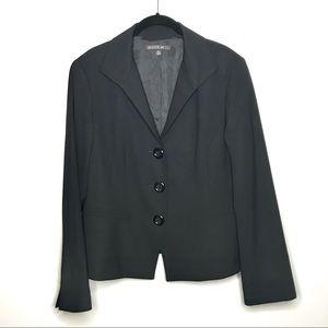 Lafayette 148 Classic 3 Button Blazer Wool Blend